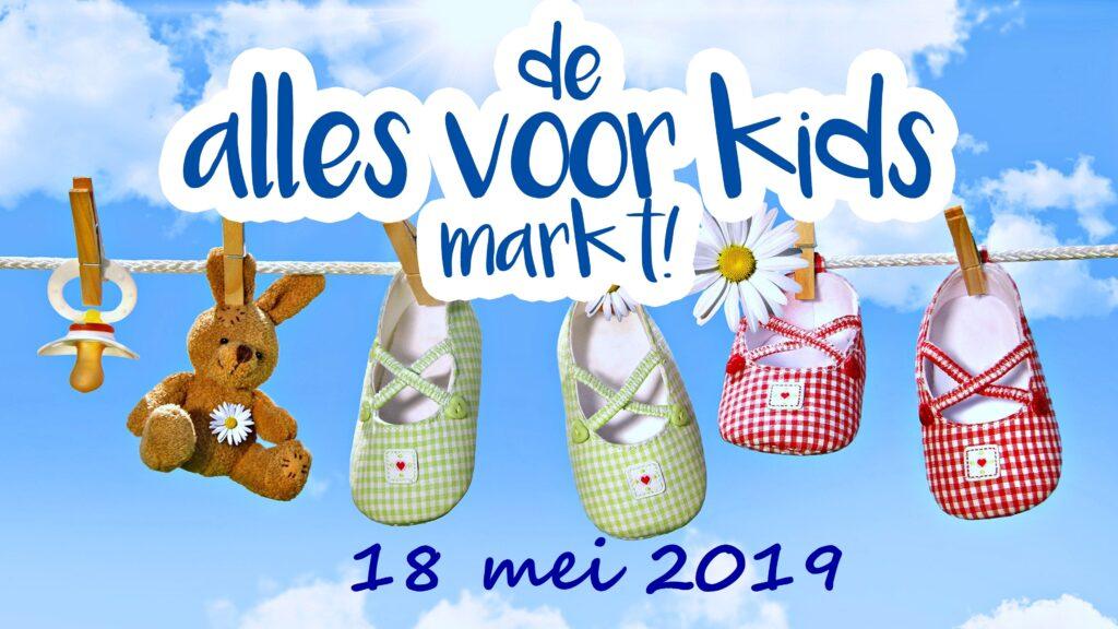 De alles voor kids markt! 5e editie wordt gehouden op 18 mei 2019